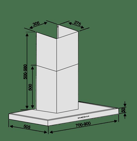 Máy hút mùi Lorca TA 6007E – 70cm