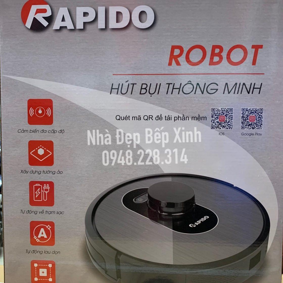 Robot hút bụi và lau nhà Rapido R6S