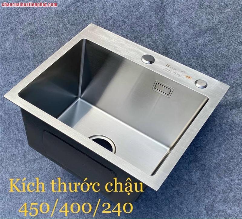 Chậu rửa bát inox Kagol một hố (KT:45x40x24 cm)